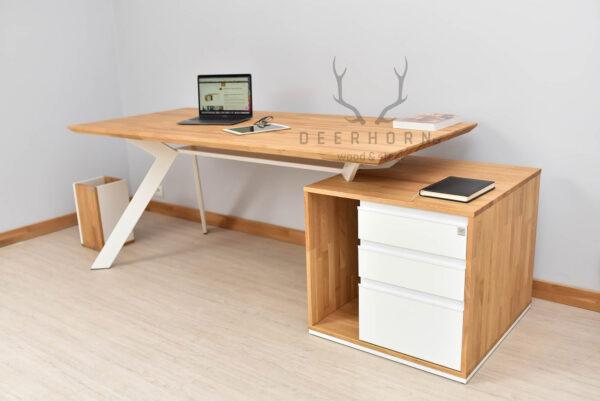 białe biurka