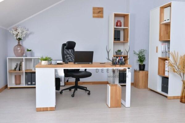 białe meble biurowe