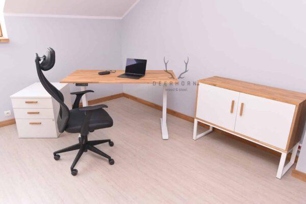 białe meble do biura
