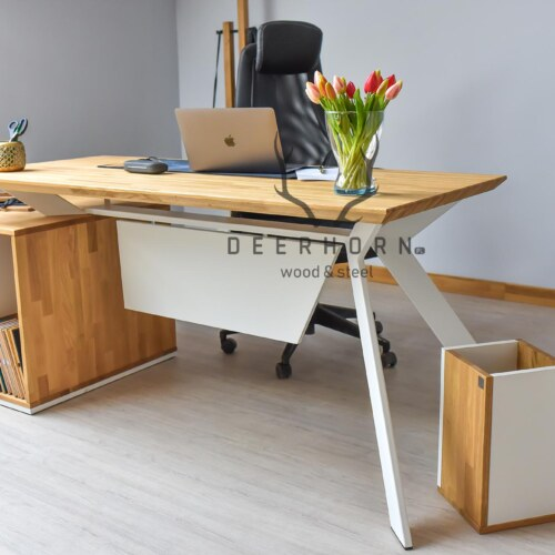 biurko gabinetowe białe