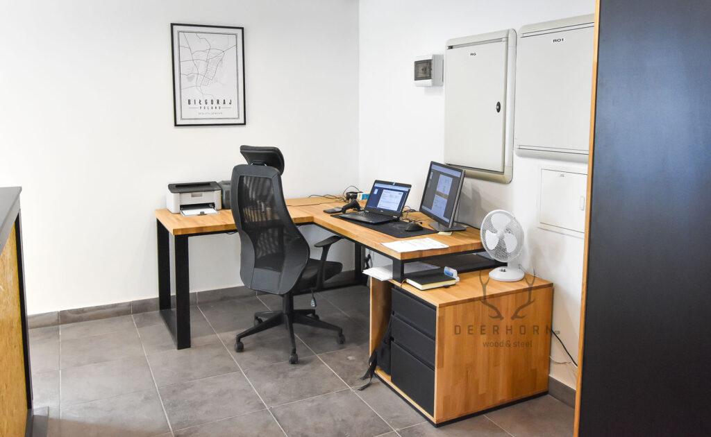 biurko narożne industrialne