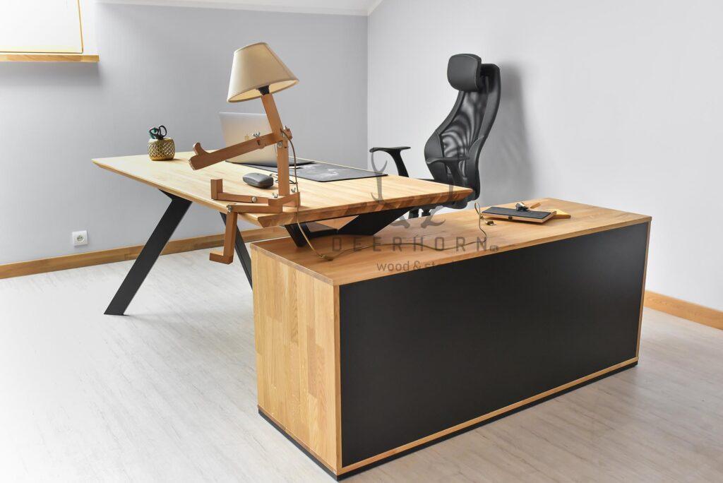 biurko narożne zszufladami