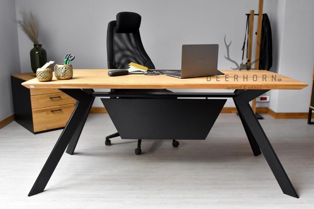 biurko zdrewna imetalu loft