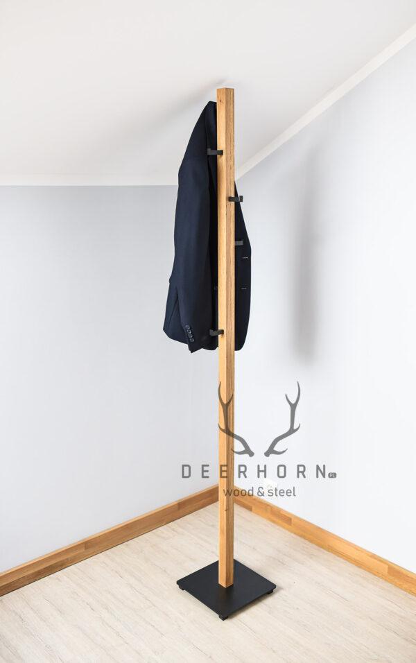 loftowy wieszak na ubrania