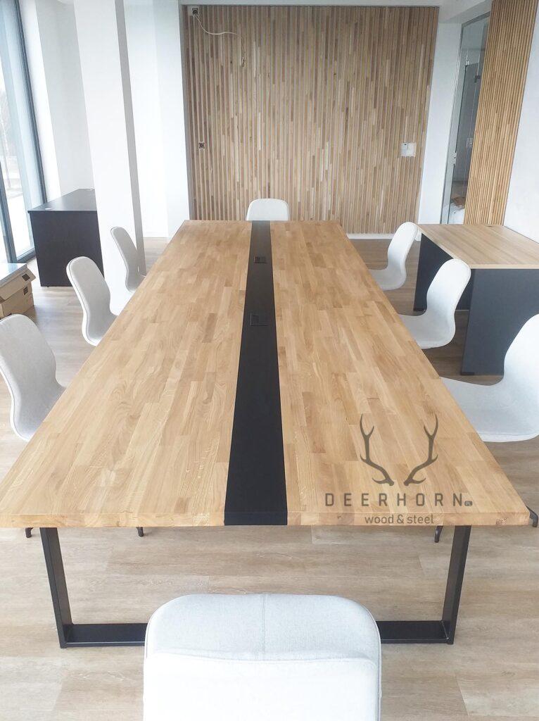 industrialny stół konferencyjny loft