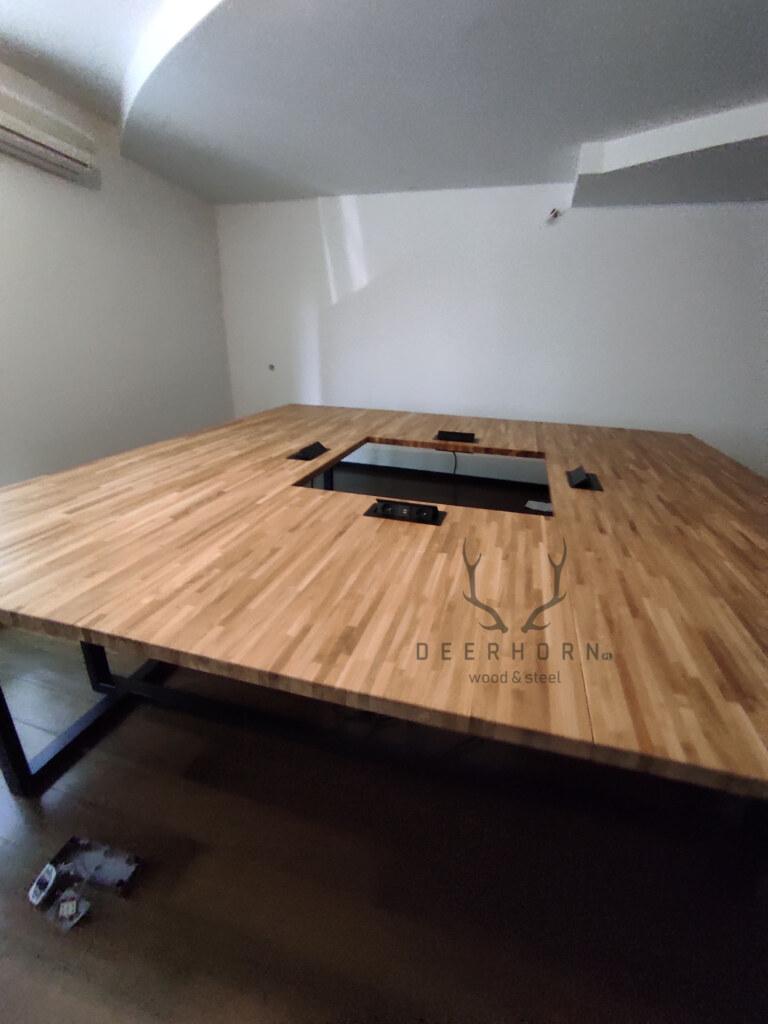 stoły konferencyjne zdrewna imetalu
