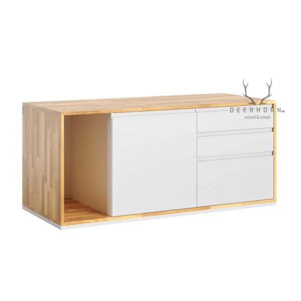 biała szafka biurowa