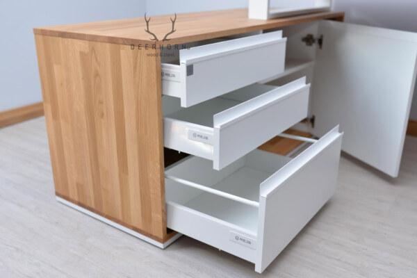 biała szafka pod biurko