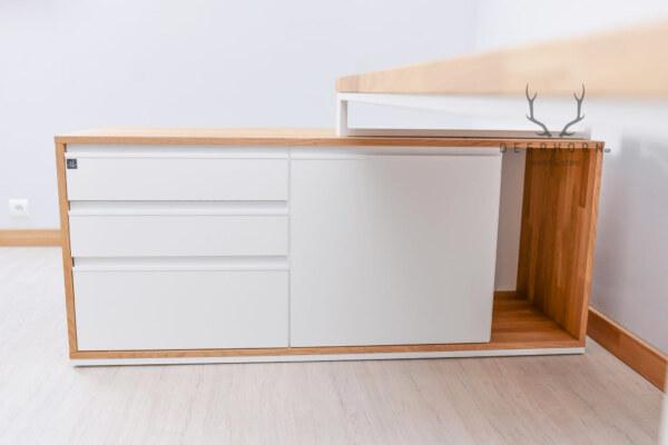 biała szafka podbiurkowa