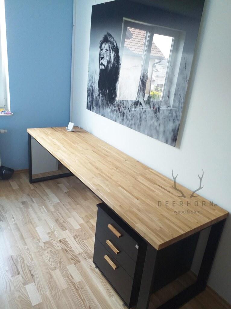 długie biurko loftowe