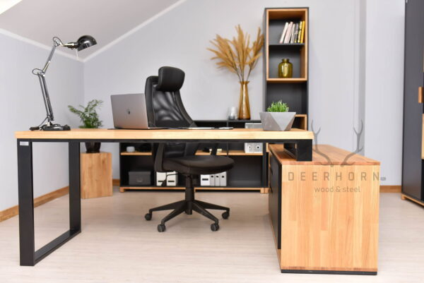 nowoczesne biurko narożne