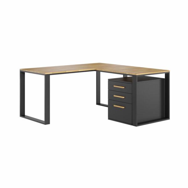 biurko narożne czarne
