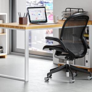 białe biurko modern office