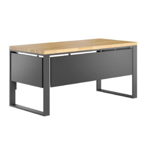 biurko z blendami