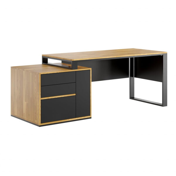 biurko z szufladami slim