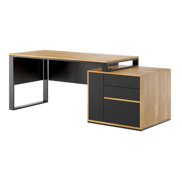 biurko z szufladami slim Deerhorn
