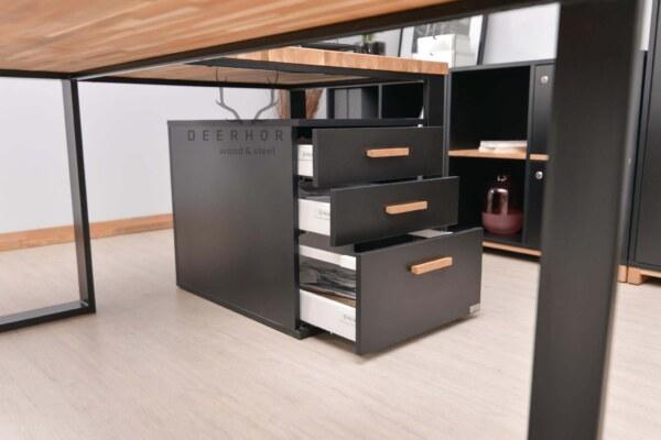 biurko z szafką z szufladami