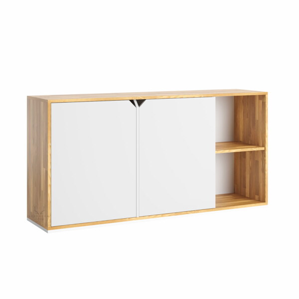 biała biurowa komoda