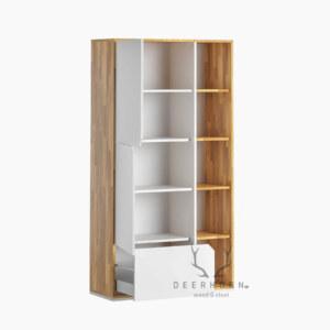 biała szafa gabinetowa loft