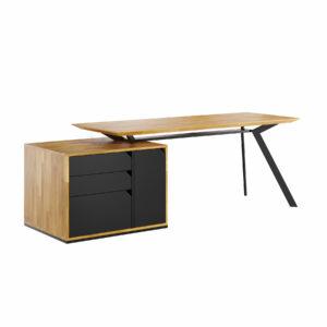 biurko gabinetowe z drewnianym blatem
