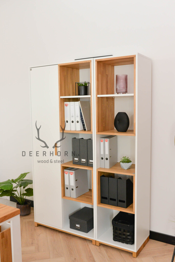 biała szafa modern office