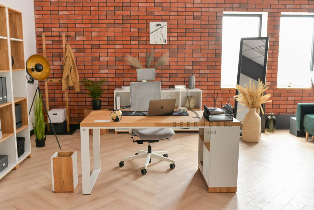 białe meble biurowe premium