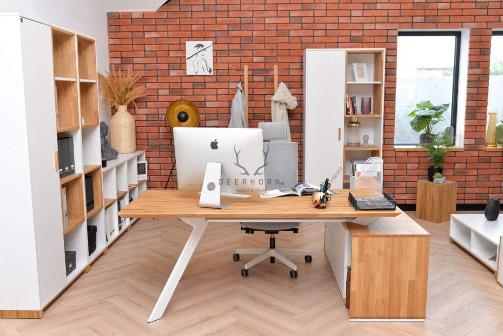 biurko narożne białe Deerhorn