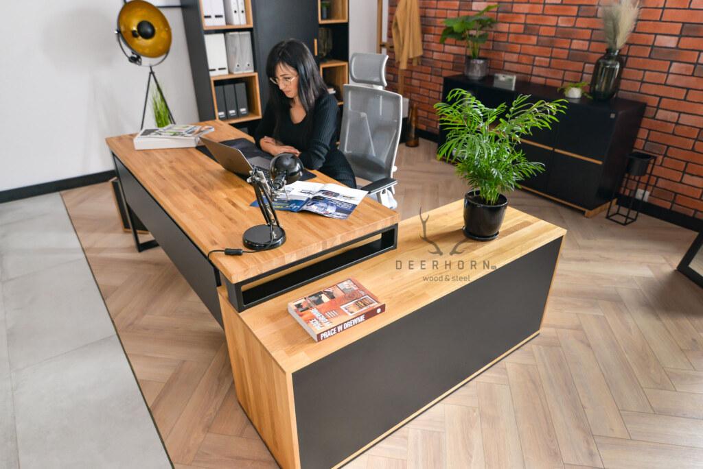biurko narożne loftowe