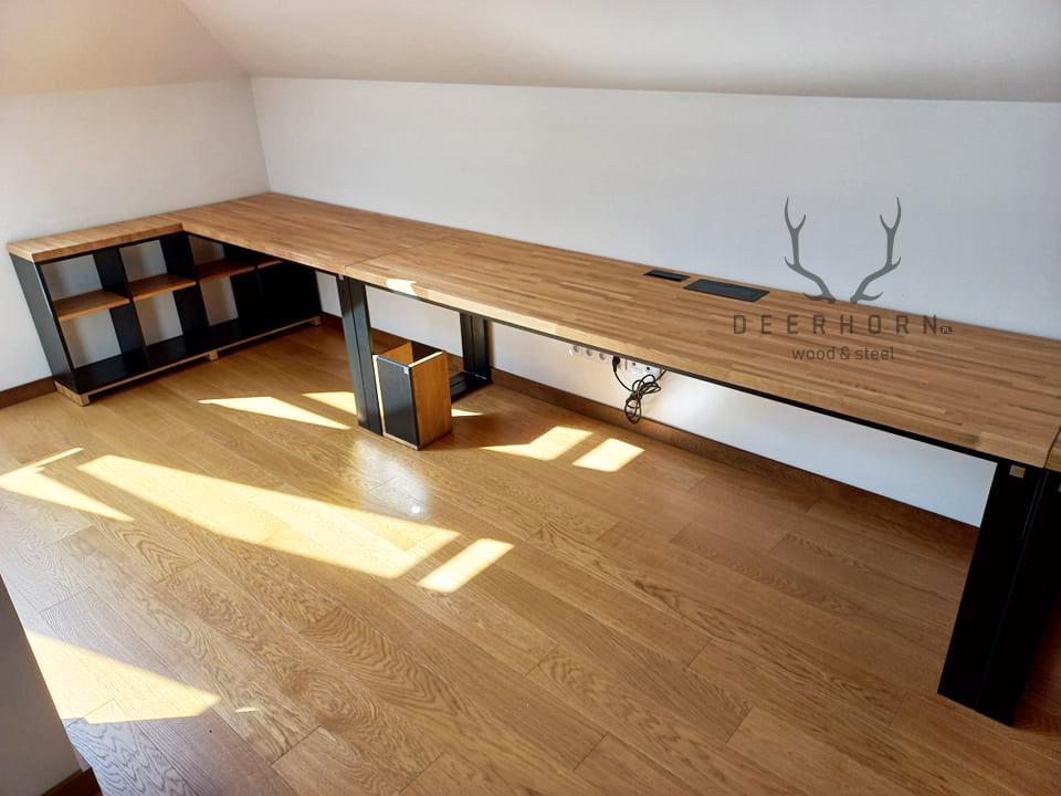 długie biurko na zamówienie