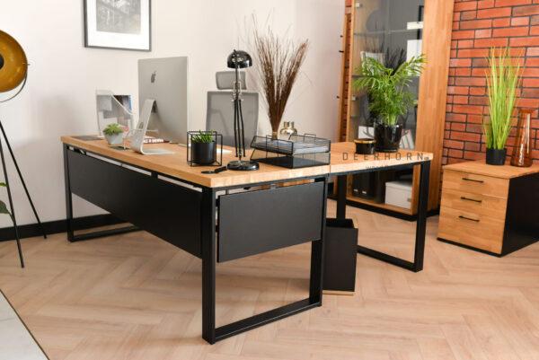 industrialne biurko narożne