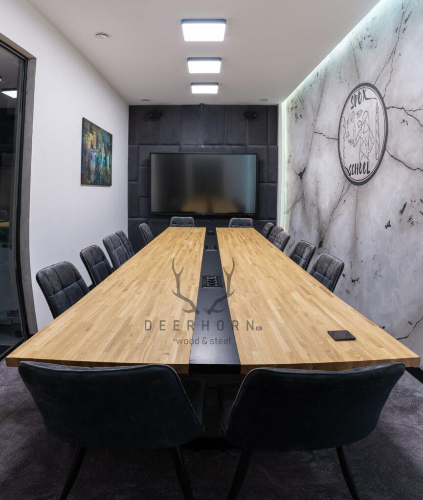 industrialny stół konferencyjny