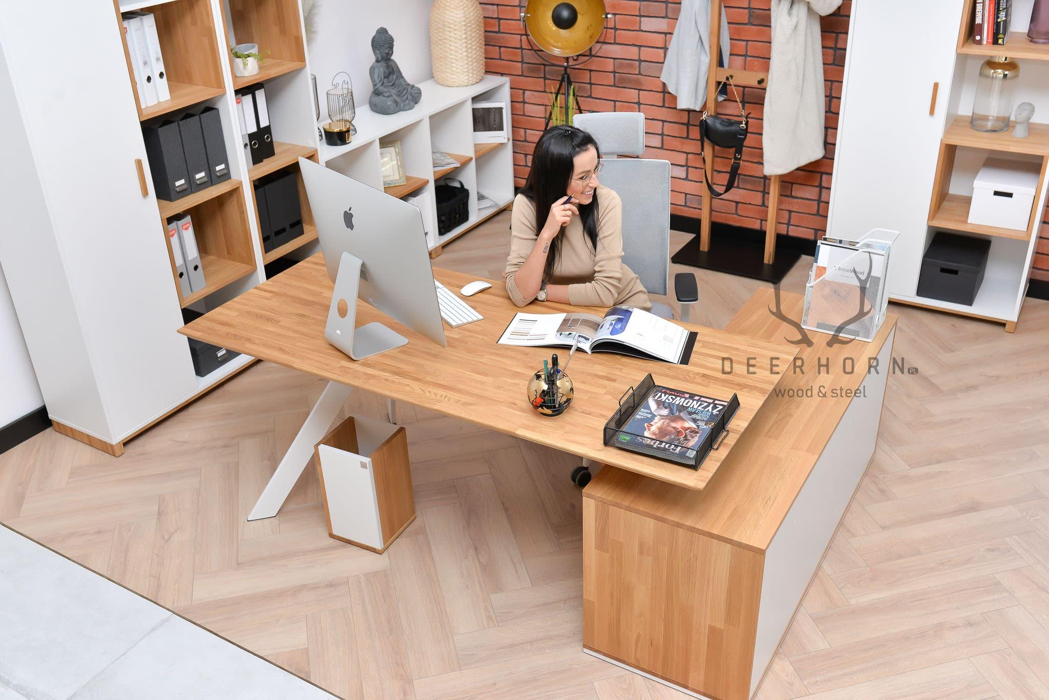 narożne biurko białe