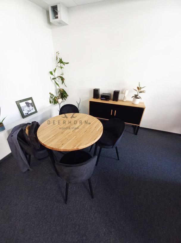 okrągły stolik biurowy