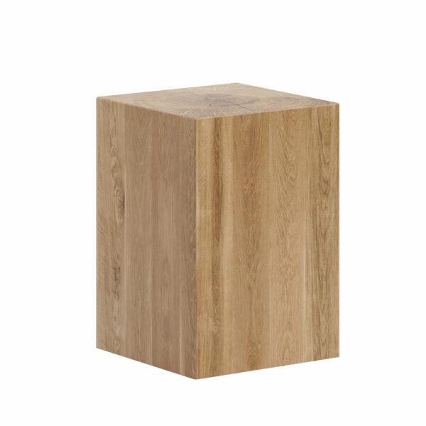pieniek, taboret drewniany dębowy